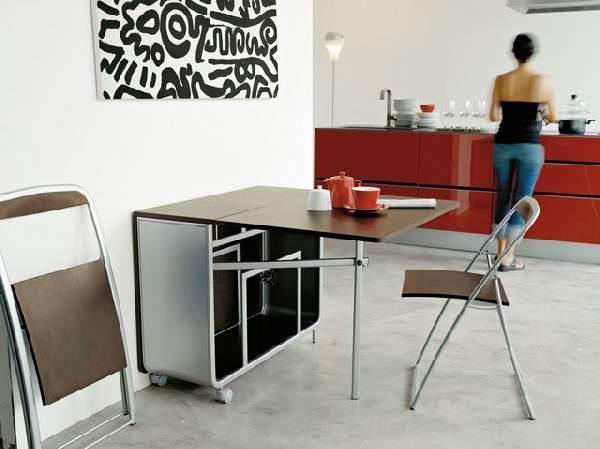 стол обеденный раскладной прямая нога, фото 28