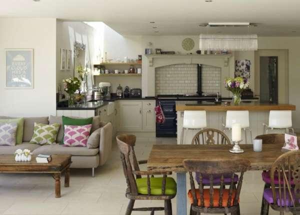 дизайн кухни гостиной, фото 49