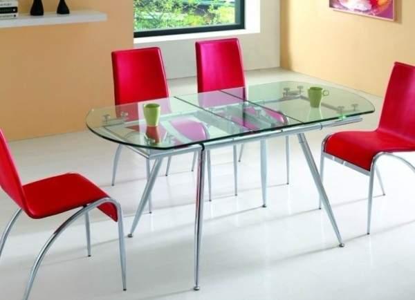 стол кухонный стеклянный раскладной, фото 8