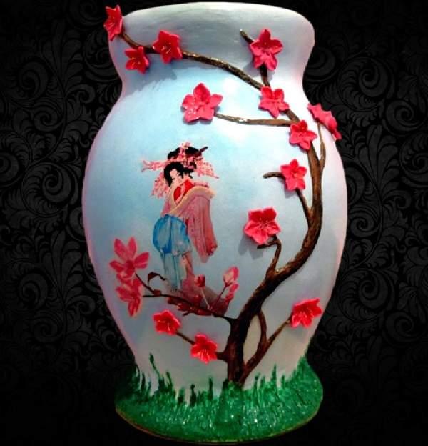 напольная ваза своими руками, фото 9