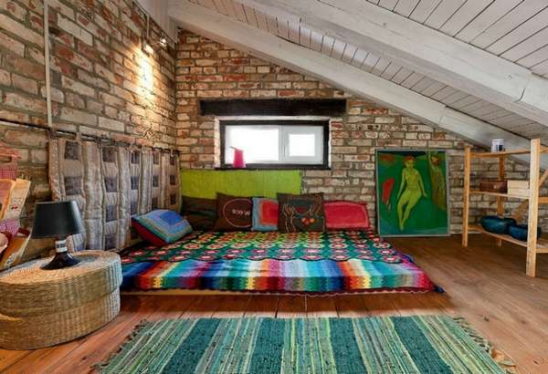 интерьер спальни на даче, фото 45