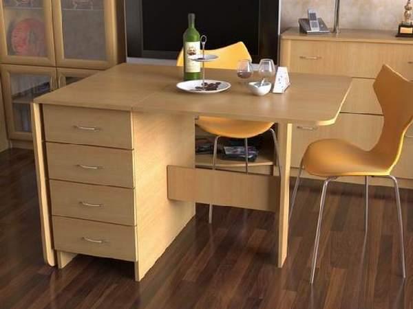 стол обеденный раскладной с ящиком, фото 29