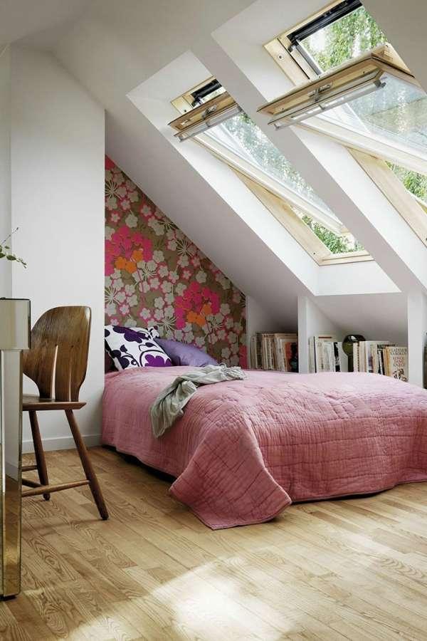 интерьер спальни с камином, фото 46