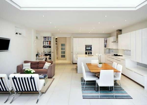 дизайн кухни гостиной с эркером, фото 51
