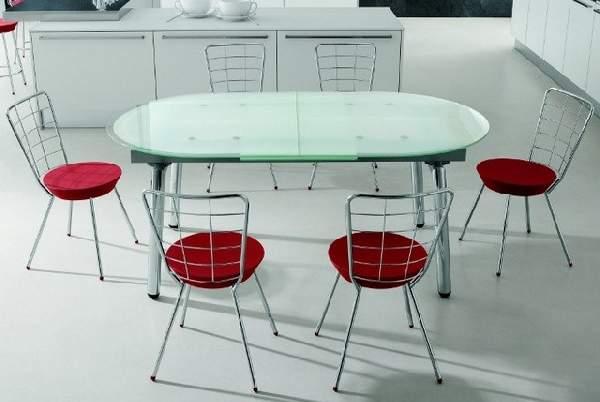 обеденный стол из стекла раскладной, фото 40