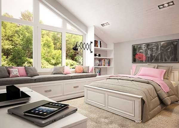 интерьер спальни в частном доме, фото 51
