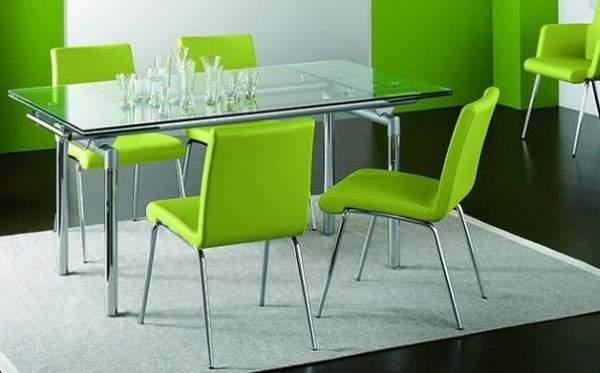раскладной стеклянный стол для кухни, фото 9