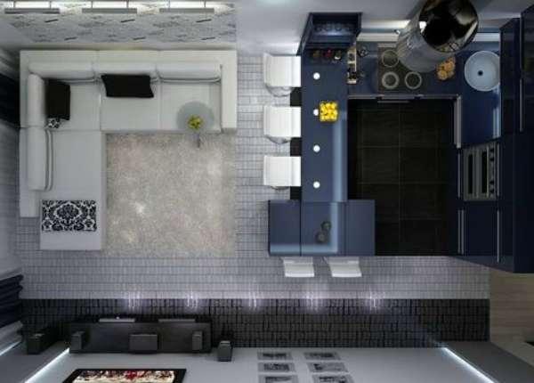 идеи дизайна кухни гостиной, фото 55