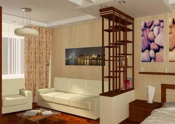 дизайн интерьера маленькой однокомнатной квартиры, фото 21