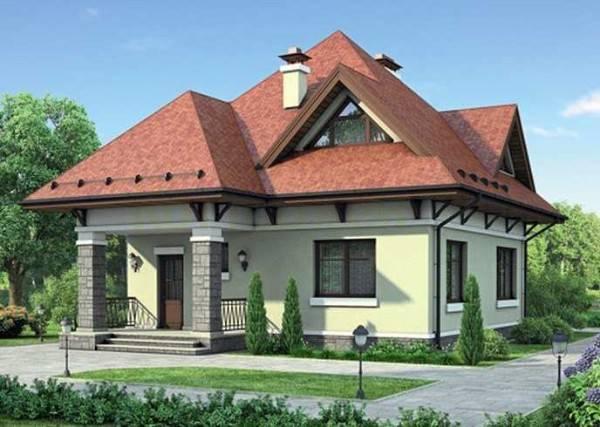 дизайн фасада одноэтажного дома, фото 18