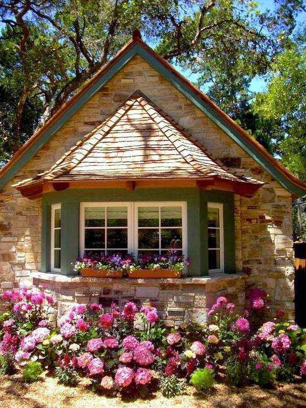 красивый одноэтажный дом с эркером, фото 64