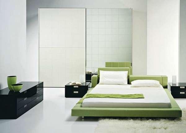 интерьер спальни минимализм, фото 62