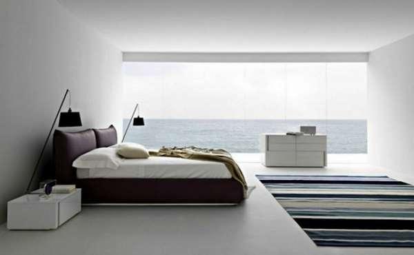 интерьер спальни минимализм, фото 63
