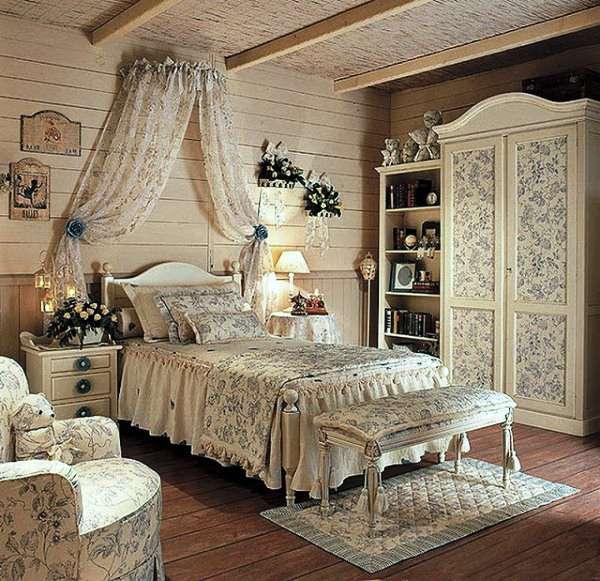 интерьер спальни с камином, фото 54