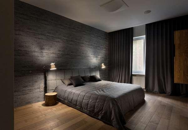 интерьер спальни минимализм, фото 64