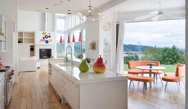 дизайн кухни гостиной в частном доме фото, фото 6