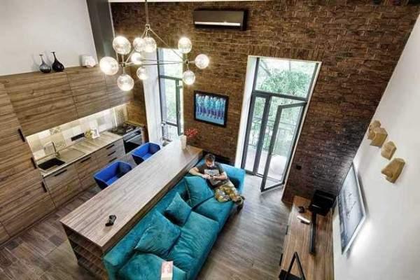 дизайн интерьера малогабаритной однокомнатной квартиры, фото 22