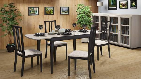 стол обеденный поворотный раскладной, фото 6