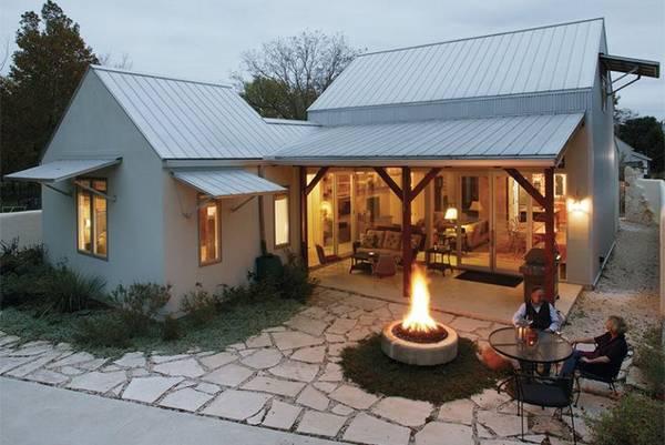 красивые одноэтажные дома с террасой, фото 71