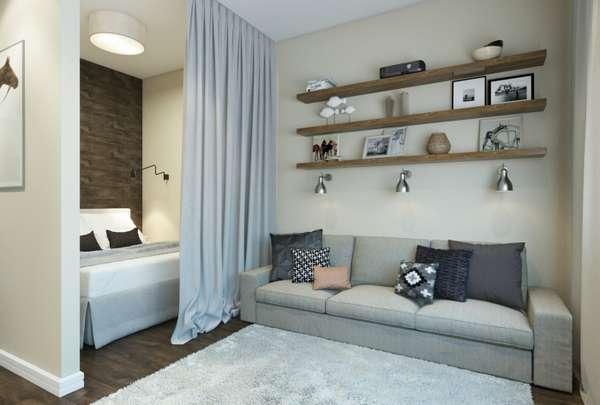 интерьер спальни в квартире, фото 8