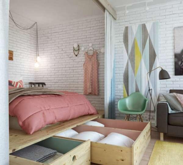 интерьер спальни в квартире, фото 9