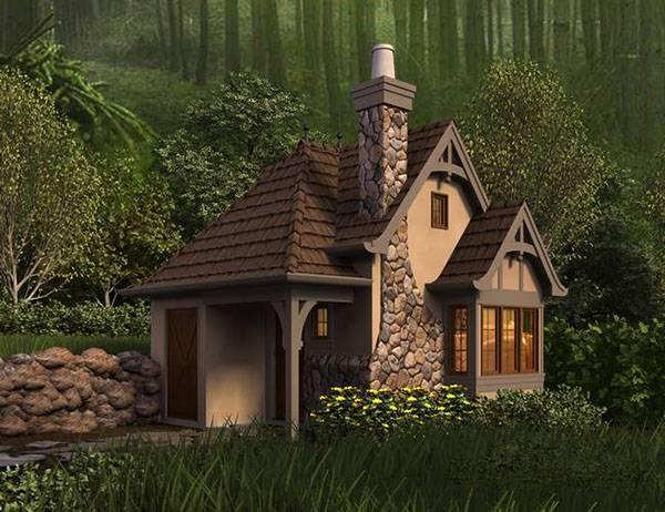 красивые одноэтажные дома из бруса фото, фото 100