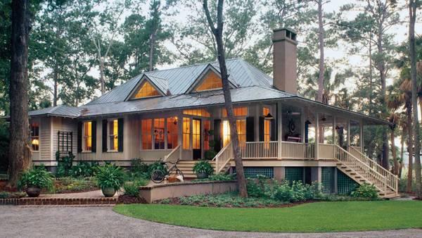 красивые одноэтажные дома с террасой, фото 77