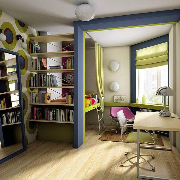 дизайн однокомнатной небольшой квартиры, фото 24
