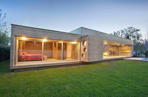 красивые одноэтажные дома с гаражом, фото 94
