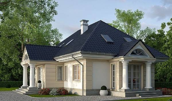 красивые фасады одноэтажных домов фото, фото 35