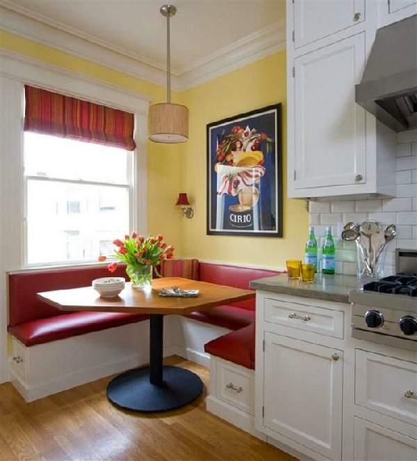 дизайн кухни с угловым диваном, фото 14