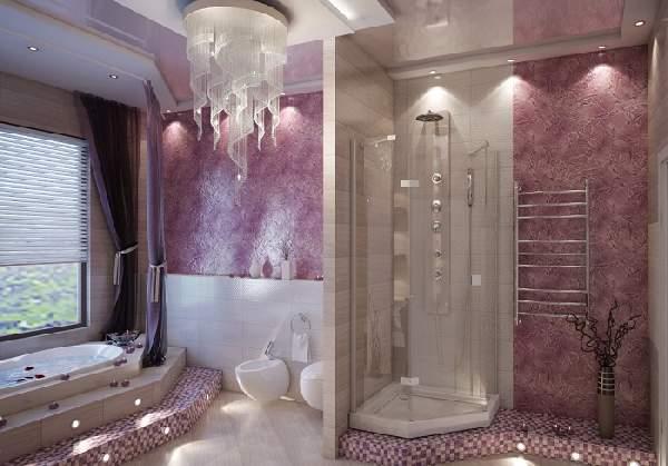 дизайн ванной комнаты большой площади, фото 22