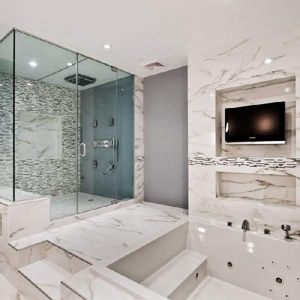 дизайн больших современных ванных комнат, фото 24