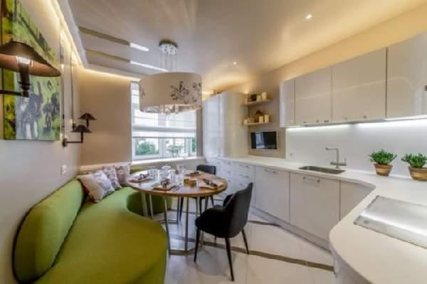 дизайн кухни с диваном, фото 1