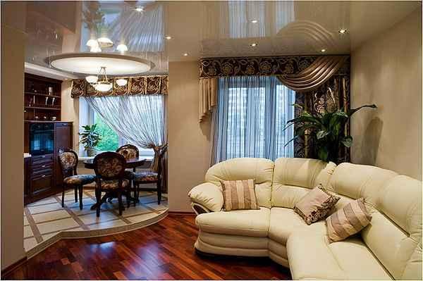 интерьер однокомнатной квартиры, фото 1