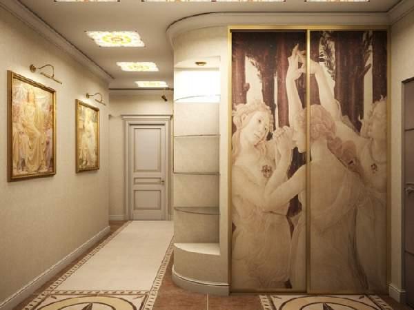 шкаф купе в классическом стиле в коридоре, фото 38