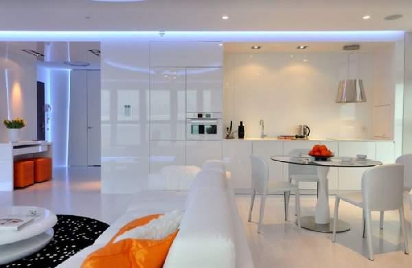 дизайн кухни с диваном фото, фото 2