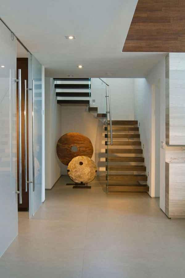 дизайн интерьера прихожей в доме, фото 44