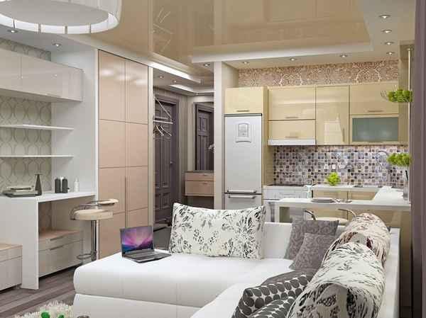 интерьер однокомнатной квартиры, фото 31