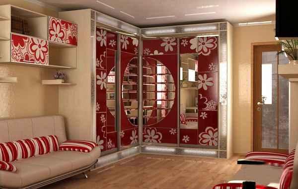 современный интерьер однокомнатной квартиры, фото 2