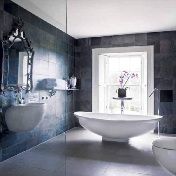 дизайн большой ванной комнаты совмещенной с туалетом, фото 27