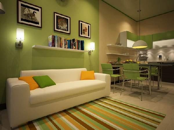 дизайн кухни 13 кв м с диваном, фото 22