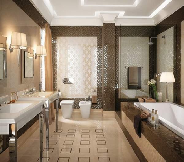дизайн ванной комнаты большой площади, фото 28