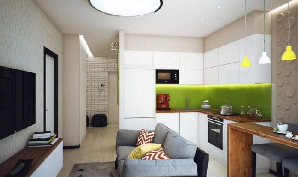 дизайн кухня с диваном 18 кв м, фото 23