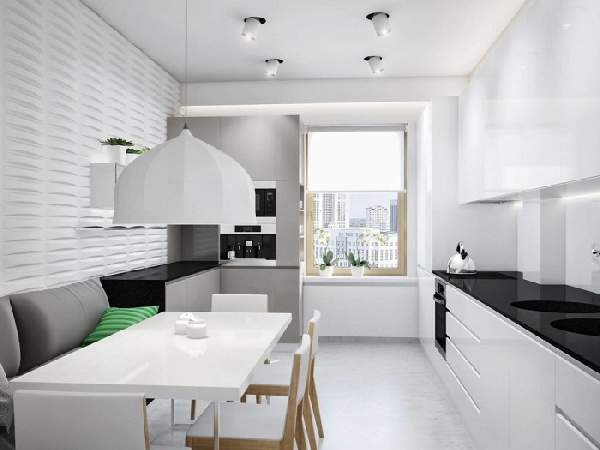 дизайн кухни 11 кв м с диваном, фото 24