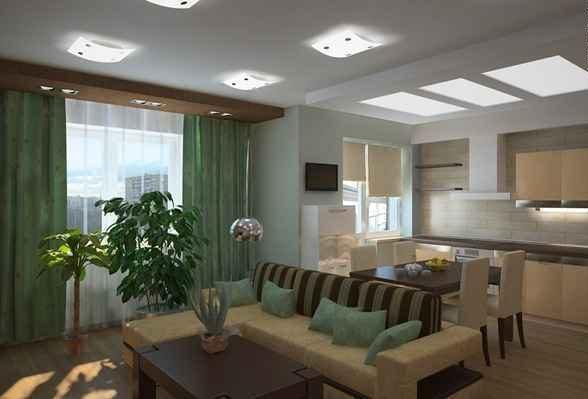 интерьер однокомнатной квартиры с нишей, фото 28