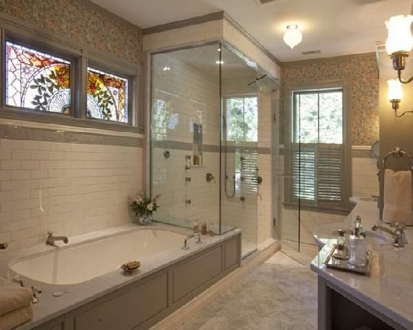 большая ванная комната дизайн фото, фото 32