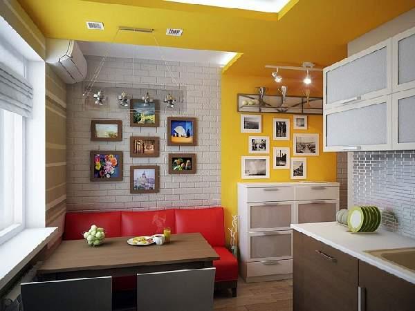 дизайн кухни 10 кв с диваном фото, фото 21