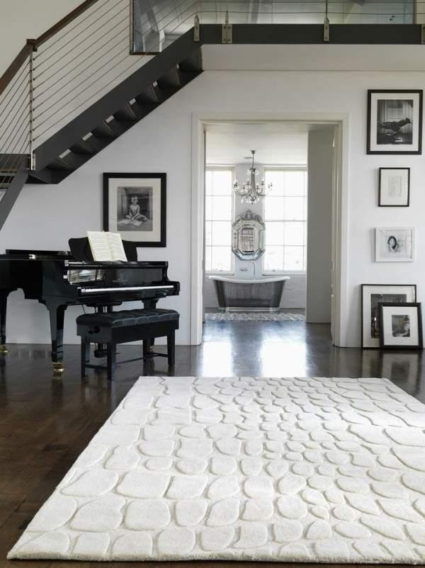 белые ковры в дизайне интерьера, фото 64
