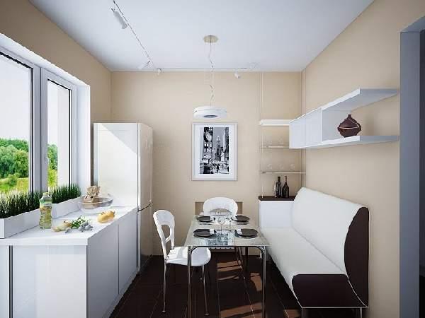 дизайн кухни 12 метров с диваном, фото 26